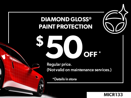 MICR133 - Diamond Gloss Paint Protection $50 off